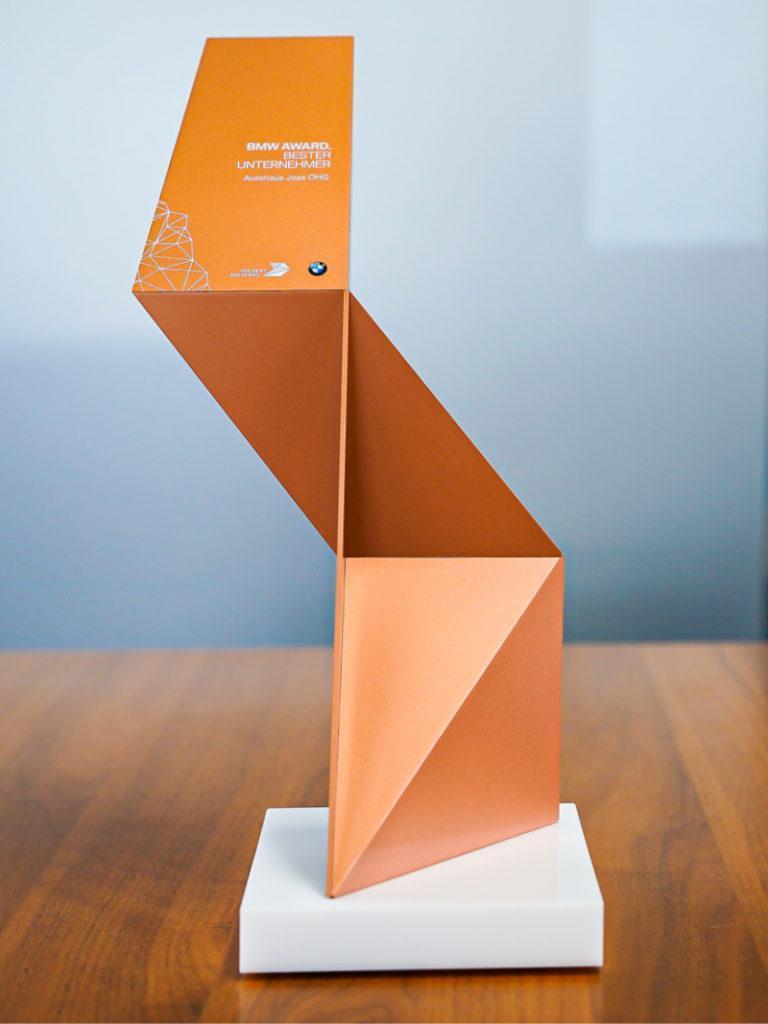 Auszeichnung BMW Award Bester Unternehmer