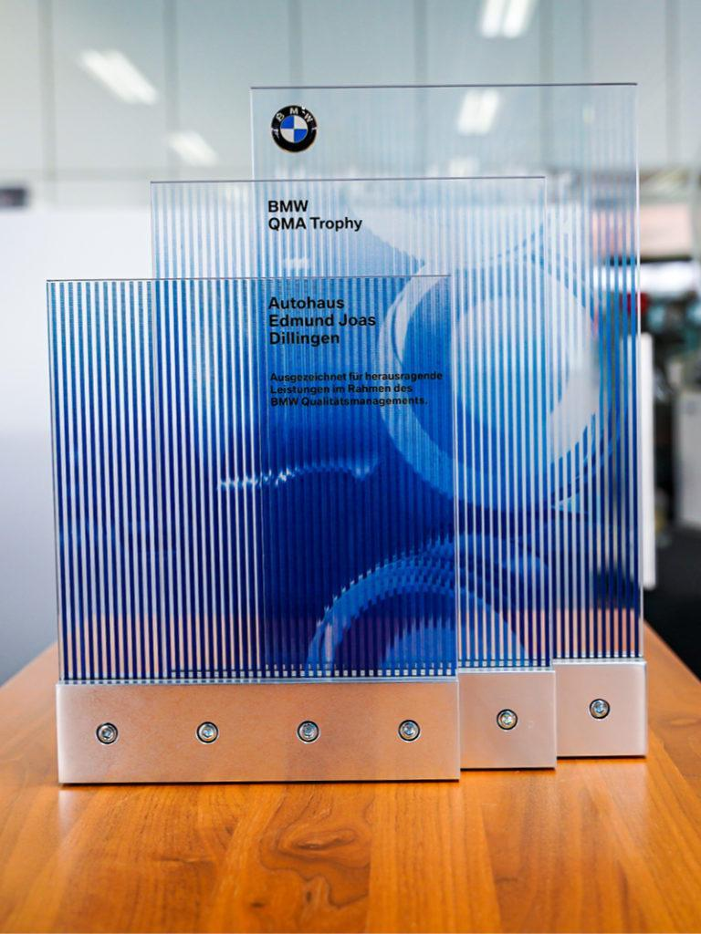 Auszeichnung BMW QMA Trophy