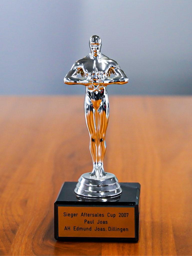 Auszeichnung Sieger Aftersales Cup 2007